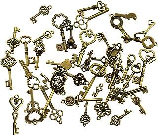 comprar comparacion 40 Unids Llaves Esqueleto de Bronce Antiguo de la vendimia Encantos Kits de BRICOLAJE para Accesorios Hechos A Mano Collar...