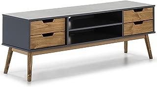 VS Venta-stock Mueble TV Java 1 Puerta y 2 cajones Gris/Cera