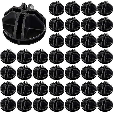 ManLee 40pcs Connecteurs en Plastique Cube de Rangement Noir Cube de Grille Connecteurs Raccord Meuble de Rangement Portable en Plastique pour Cubes de Rangement Rayonnage Armoire Modulaire