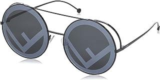 نظارة شمسية للنساء من فندي - اسود ورمادي - FF 0285/S MD 807 63