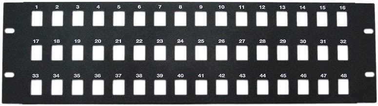 GOWOS Rackmount 48 Port Blank Keystone Patch Panel, 3U