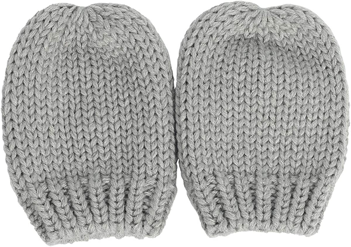 Rehomy Baby Hat Mitten Set Winter Warm Toddler Cap Glove Knitted Beanie Newborn Hat with Mittens for 0-18M Baby Infant Boys Girls