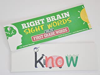 Right Brain Dolch First Grade Sight Word Cards
