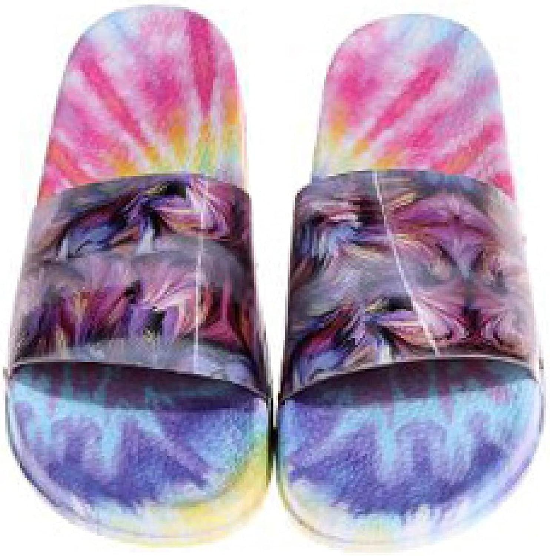 Stylish Platform Slides for Women Open Toe Soft Sole Multicolor Bathroom Beach Slip on Flat Slide Sandals
