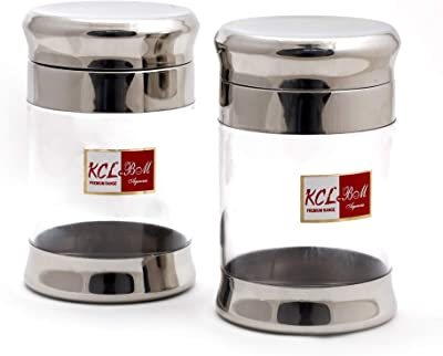 KCL Fusion Option Storage Canister/Unbreakable Jar/Container/Utility Box -Set of 2 -Each 250ML- Diamater- 8.5Cm