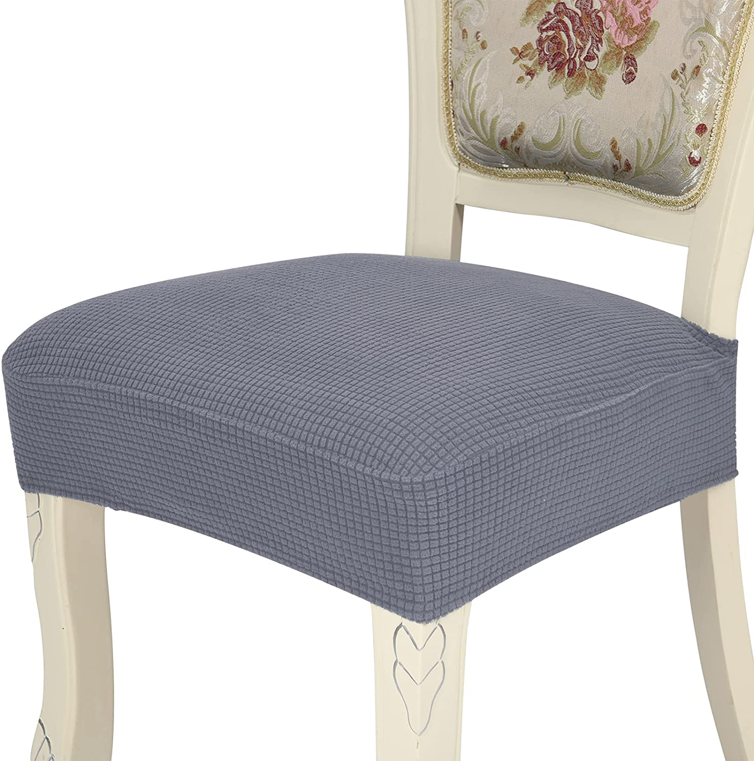 Chair Covers for Dining Special sale item Room Chairs Grey Rear-Cove Set Dark Seattle Mall of 6