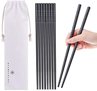 5 Pairs Fiberglass Chopsticks, GLAMFIELDS Reusable Japanese Chinese Chop sticks Dishwasher Safe, Non-slip, 9 1/2 inches - ...
