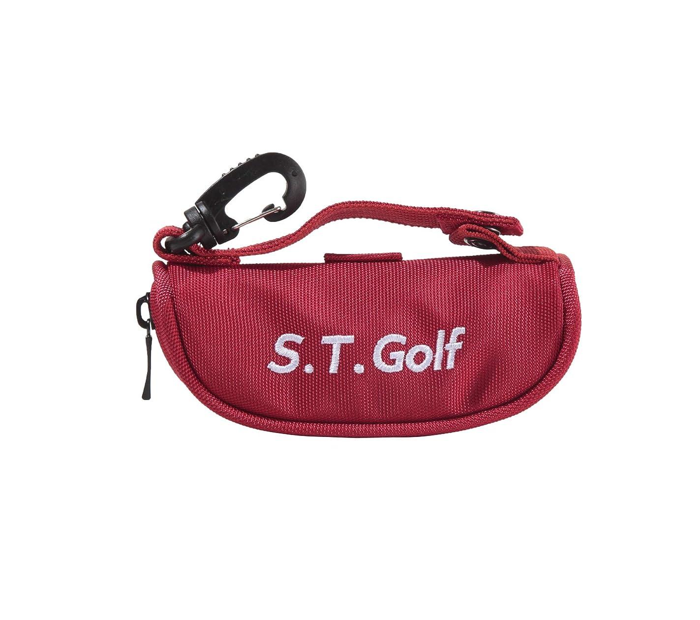 食料品店護衛コアS.T.Golf ゴルフ ボールケース ボールポーチ おしゃれ な ゴルフボール 入れ 軽量 ボール3個 ティー3本収納