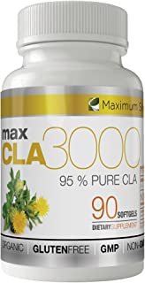 MAX CLA 3000, High Potency, Natural Weight Loss Exercise Enhancement, Increase Lean Muscle Mass, Non-Stimulating, Non-GMO ...