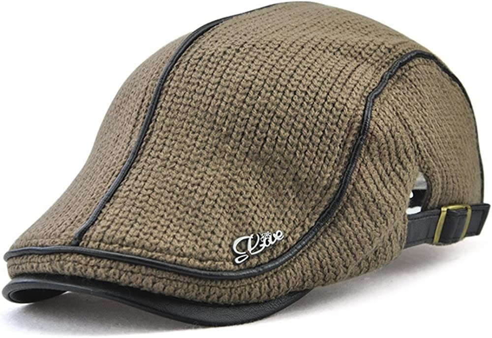 Men's Newsboy Duckbill Ivy Flat Cap Scally Sales results No. 1 Knitted Warm Limited time for free shipping Brow Hat