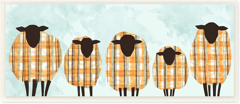 Stupell Industries Popularity Black Sheep Herd Award Autumn Sweaters Plaid Orange