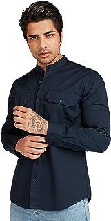 Iconic Men's 2300572 UNI Regular Shirt, Navy