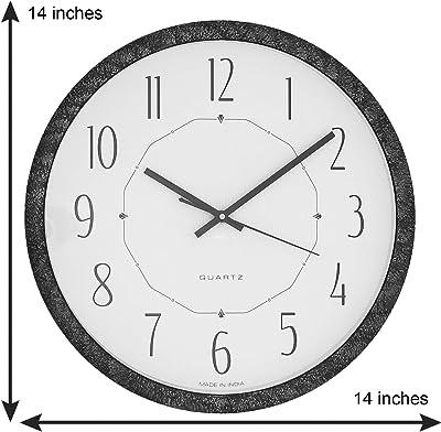 Samay silvert Textured Fibre Round dial Designer Analog Wall Clock (36cmx 36cmx 4cm)