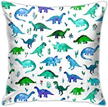 Dinosaurs Fabric Tiny Dinos in Blue and Green Daily Decorations Sofa Throw Pillow Case Cushion Covers Zippered Pillowcase 4545