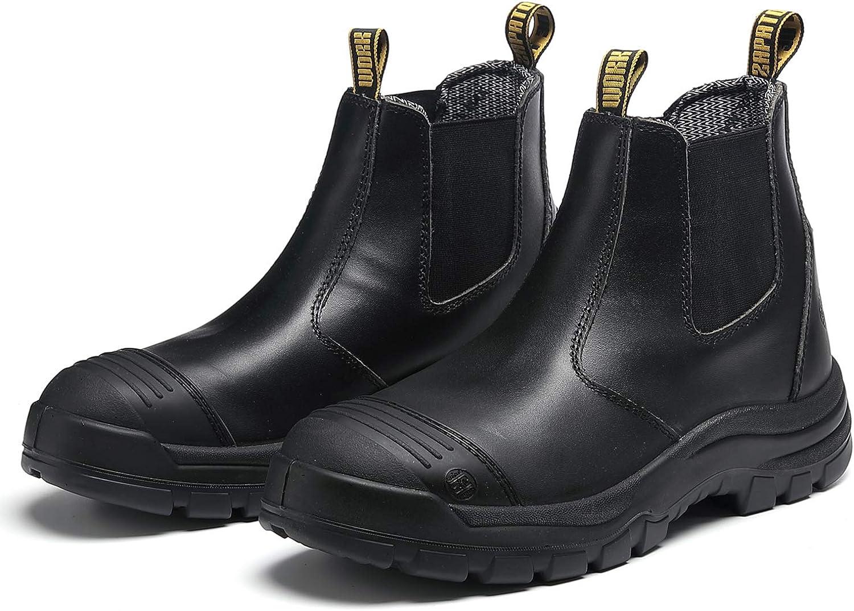 ROCKTURTLE Steel Toe Work Boots for Waterproof o Black Slip Ranking TOP12 Men Sales results No. 1