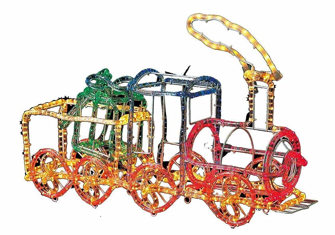食べる発症親愛なクリスマス 屋外用 3Dイルミネーション ガーデンモチーフ 3D機関車