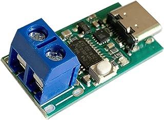 #N/A Type-c USB-C pd2.0 pd3.0からdcへの高速充電トリガーポーリング検出器USB-PDノートブック電源交換ボードモジュール - ZY12PDNネジ端子