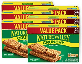 Nature Valley Granola Bars, Crunchy Oats 'n Honey, 17.88 oz, 6 Boxes