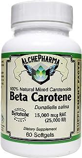 Beta Carotene Patented Betatene®, 100% Natural Mixed carotenoids (Dunaliella Salina) Micro Algae - 60 Soft Gels