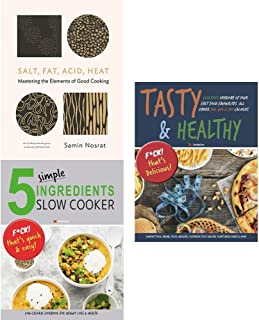 Salt fat acid heat [hardcover], 5 simple ingredients slow cooker and tasty & healthy 3 books collection set