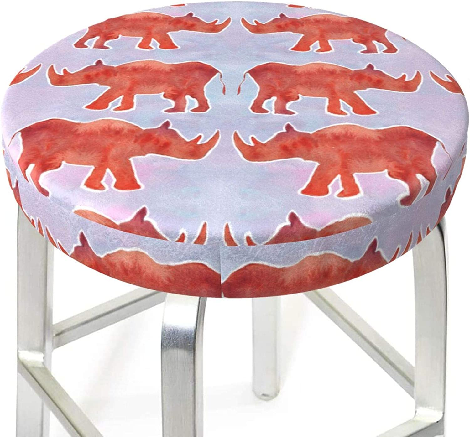 Yilad American Pride Fireworks USA Anti-Slip Barstool Seat Cushion Cover Comfortable Round Swivel Chair Protector Cushion