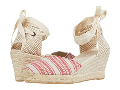 Soludos Lyon Wedge Espadrille (Red) Women