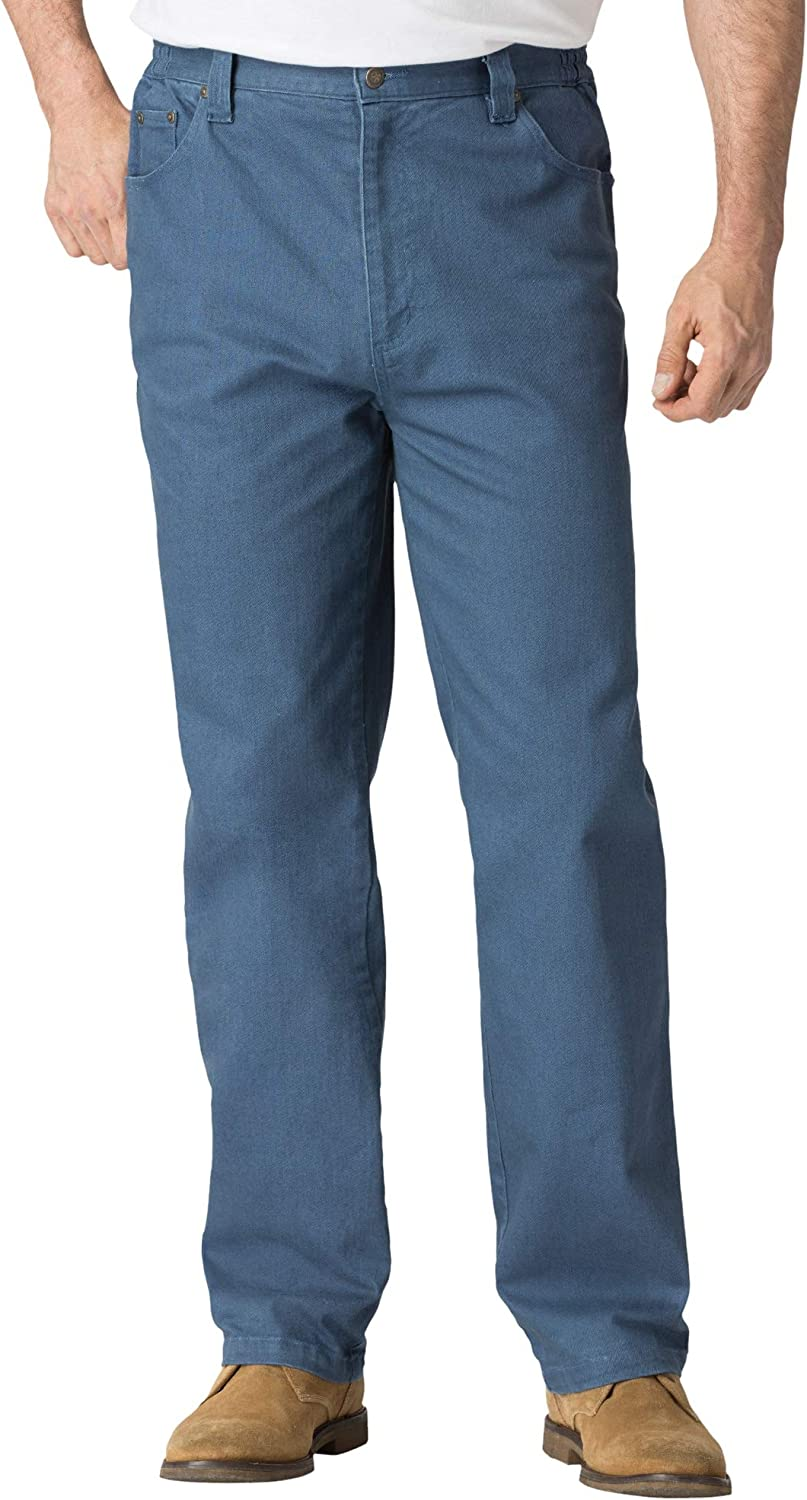 Liberty Blues Men's Big & Tall Relaxed Fit 5-Pocket Stretch Jeans - Tall - 38 40, Blue Indigo
