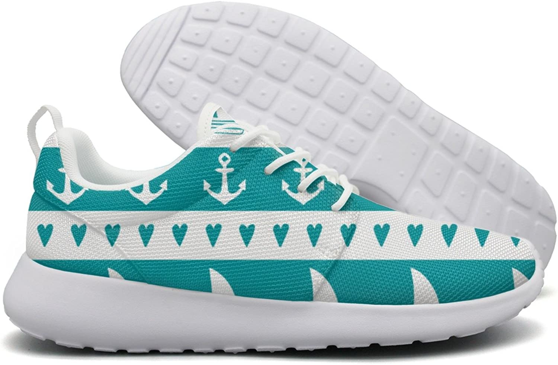 Anchor Sailboat Hear Womens Flex Mesh Casual shoes Women