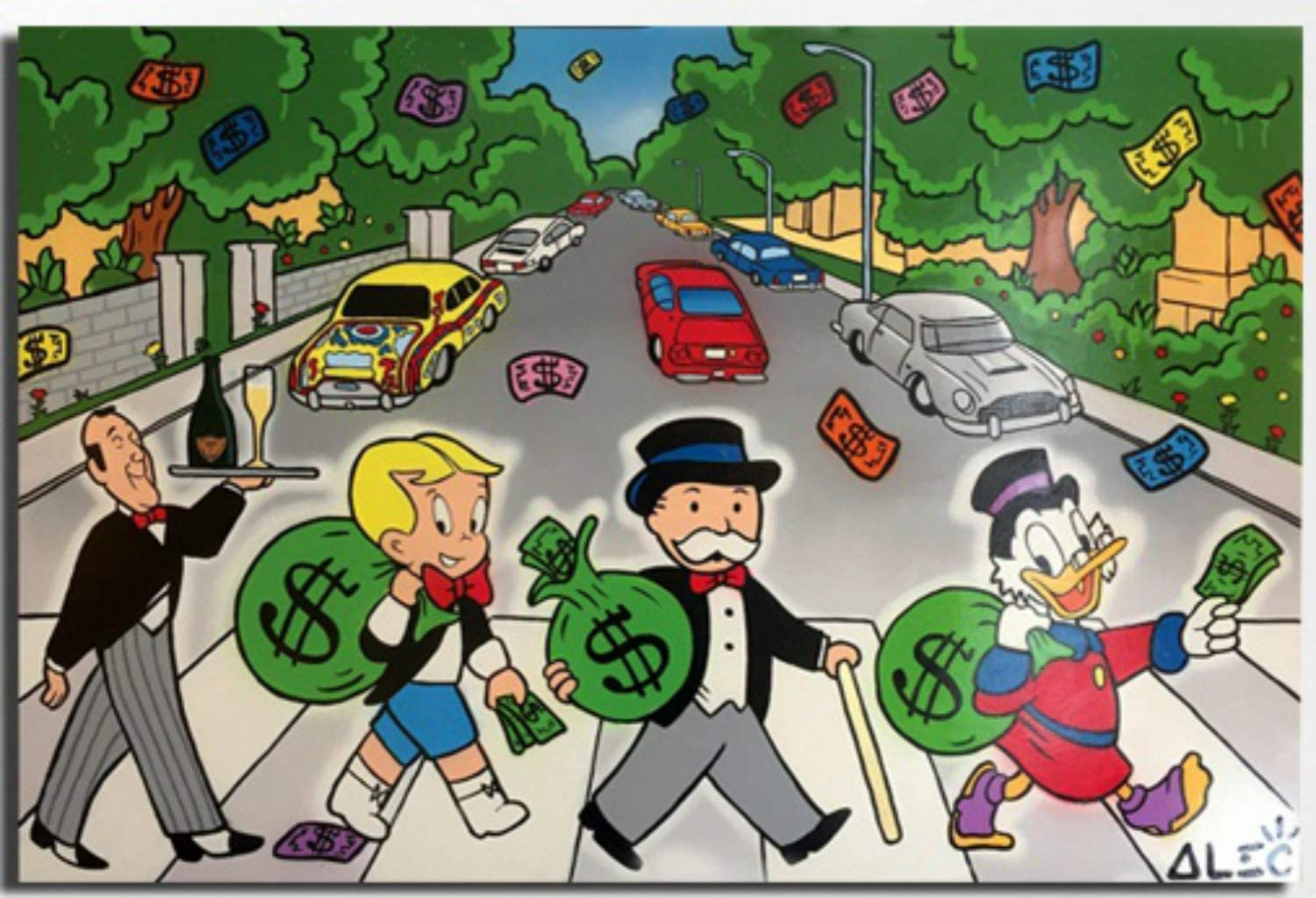 Alec Monopolies Abbey Road Canvas Painti Prints Posters Max 45% Easy-to-use OFF Art Wall