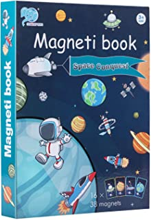 Magnetic Book Puzzles for Kids | Space Conquest Puzzle Game for Boys | Multiple Magnetic PCs Game for Imagination Play | B...