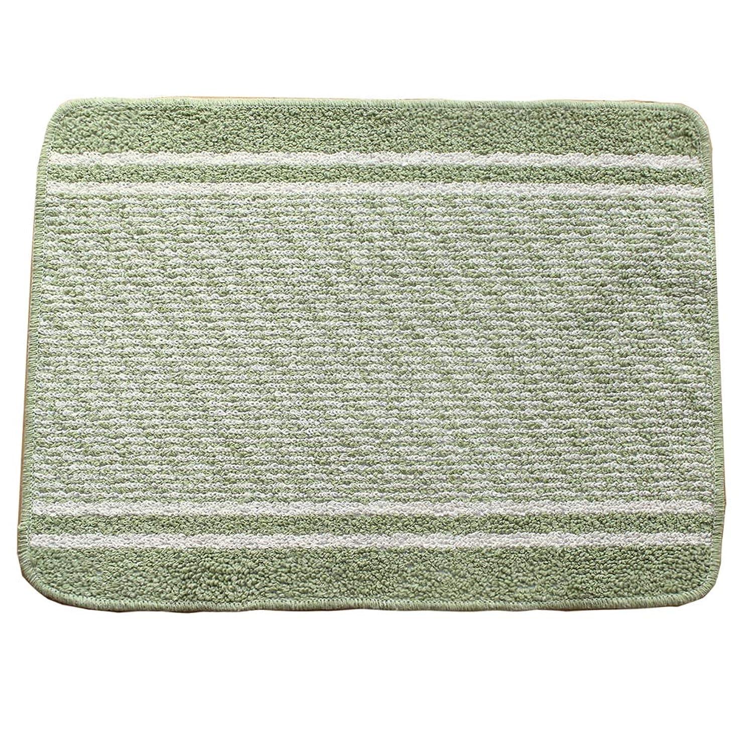 啓発する窒息させるプラグマルナカ 浴室足ふきマット グリーン 45x60 日本製:コットンライン 2023