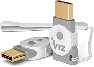 Volutz Micro-USB to USB-C Adapter -[2-Pack] Fast Charge and Convert Data via OTG Micro Female to Type-C Male for MacBook Pro, Samsung Galaxy S9 S8 Note 8, LG V30, 2XL & More USB-C Devices Ghost-White
