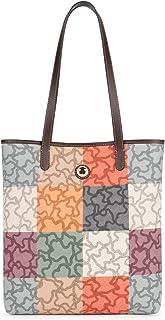 حقيبة كتف نسائية من Tous Shopping Kaos Cuadradoo، متعددة الألوان (Naranja/Marro)