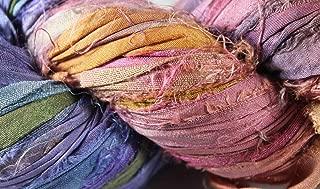 Recycled Sari Silk Ribbon- Fair Trade- Bohemian- 100g Skein