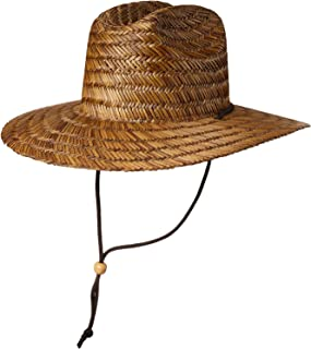 Men's Straw Sun Classic Beach Hat Raffia Wide Brim