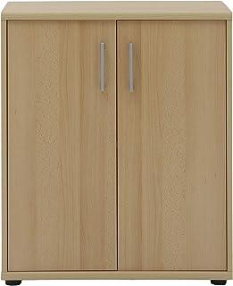 Armoire à Documents en hêtre décorée de Meubles - Environ 65,1 x 34,5 x 77,3 cm.