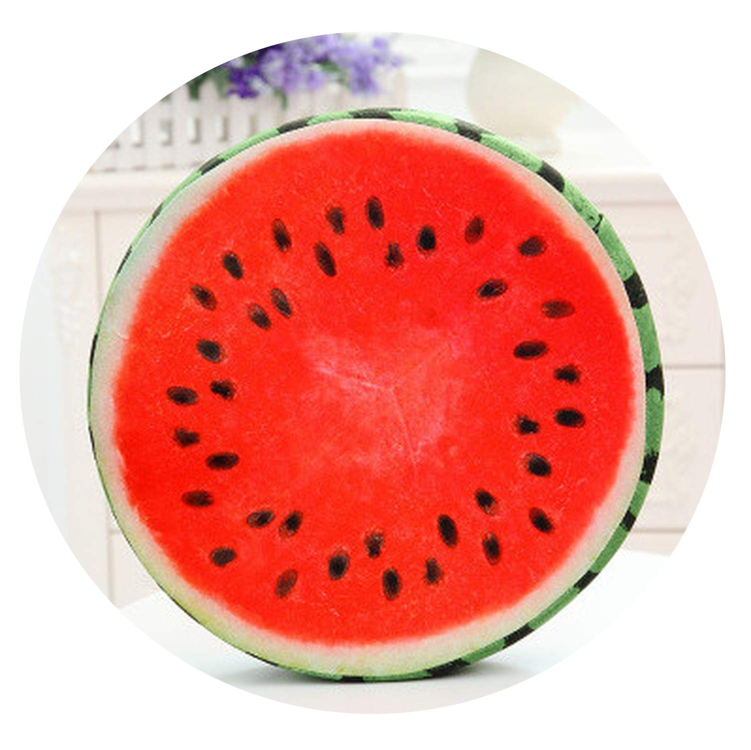 Throw Pillow Toy for Chair Seat Sofa Back by Delight eShop 1pc Kiwi 3D Fruit Cushion