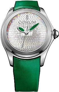 Corum - Bubble Original Reloj para Hombre Analógico de Cuarzo con Brazalete de Piel de Vaca 082.310.20.0067.DB01