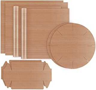 ilauke Dauerbackfolie 8er Set Wiederverwendbar Backpapier Backfolie - Hitzebeständig, Antihaftbeschichtet und Spülmaschinenfest, zuschneidbar