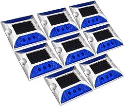 X-DREE 8pcs LED Solar Road Stud Light Marker Lighting Security Warning Lamp 6LED Blue (70a71d24-a222-11e9-8d7c-4cedfbbbda4e)