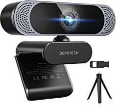 4K Webcam, 2021 DEPSTECH HD 8MP Sony Autofocus Webcam with Microphone, Privacy Cover and Tripod, Plug and Play USB Compute...
