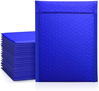 Metronic Royal Blue Poly Bubble Mailers, 6x10 Self-Seal Bubble Poly Mailers, Shipping Bags, Packaging Bags, Padded Shippin...