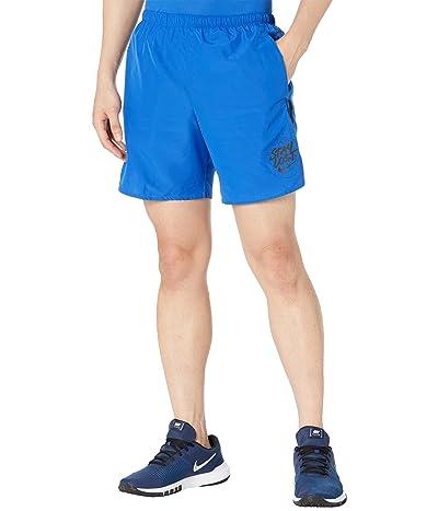 Nike Challenger Shorts 7 Brief Windrunner Graphic (Game Royal/Black) Men