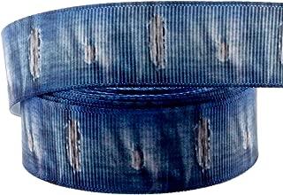 Midi Ribbon 10 Yards 7/8 Inch Denim Print Grosgrain Ribbon for Hair Bow Hair Clip Accessories Collar DIY Supplies Material