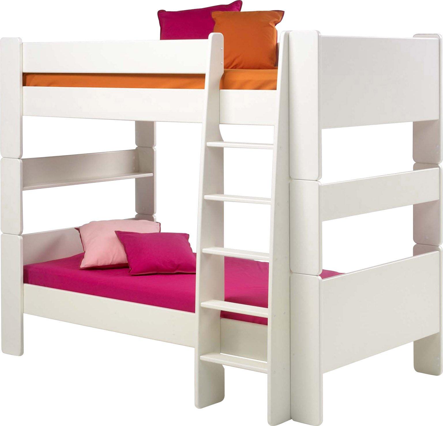 Steens – Cama litera para niños con Escalera, Color Blanco: Amazon.es: Hogar