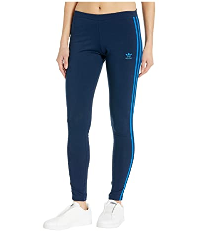 adidas Originals 3 Stripes Tights (Collegiate Navy/Bluebird) Women
