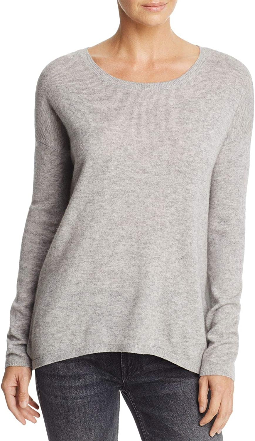 Joie Effie Crossback Wool-Cashmere Sweater, Ash Heather Gray, XX-Small