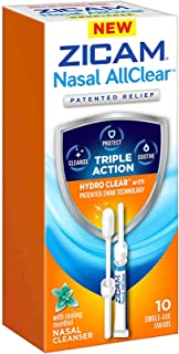 Best Zicam Nasal AllClear Triple Action Nasal Cleanser with Cooling Menthol, 10 Count Review