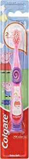 Colgate Kids Peppa Pig Extra Soft Bristles Manual Toothbrush for Children 2-5 Years 1 Pack