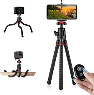 Phone Tripod with Wireless Remote Eco Moda 360 Degree Rotation Flexible Portable Octopus Travel Small Tripod for iPhone An...